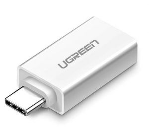 Adapter USB-A 3.0 do USB-C 3.1 UGREEN (biały)