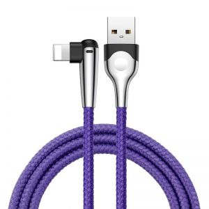 Kabel USB do Lightning Baseus MVP 2.4A 1 metr - fioletowy