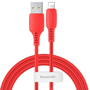 Kabel Lightning USB Baseus Colourful 1.2m 2.4A (czerwony)