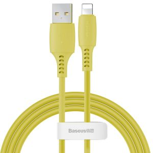 Kabel Lightning USB Baseus Colourful 1.2m 2.4A (żółty)